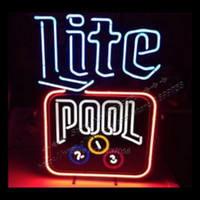 ad tubes - 22X15 quot LITE POOL NEON SIGNS NEON LIGHTS Handcraft Real Glass Tube AD board Neon Light Sign led light