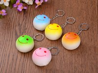 Wholesale 2016 Wedding Keychains wedding gift Lovely Emoji Smiley keychains PU cm love keychainS Keychain Favors for Christmas gift
