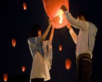 Wholesale Wishing Lantern Mix Colors Hot Air Balloons Fire Sky Lantern For Birthday Valentine s Day Party