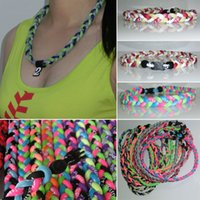titanium necklaces - New color power fashionable healthy custom braided titanium baseball necklace
