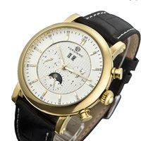 Wholesale Antique vintage relojes hombre automatic titanium watches men military watch leather bracelet clock