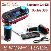 Wholesale Wireless T66 MP3 Player Car Kit FM Transmitter With LCD Dual USB Car Charger Audio Remote Control