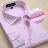 100% cotton men dress shirts - 2016 Brand High quality Twill white collar mens shirts long sleeve non iron Solid men dress shirts slim fit man s shirts Plus size xl free