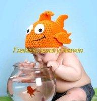 flounder fish - Cute Baby Girls Boy Golden Flounder Fish Newborn M Knit Crochet Clothes Photo Prop Hat Cap Costume Free shpping