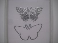 Wholesale Butterflies Die Pierced Butterfly embossed sheet DIY Butterfly cutting die QX
