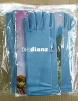Wholesale 38 cm long full finger wedding gloves halloween Christmas party frozen queen elsa gloves Elsa Cosplay Costume Snow Queen Anime gloves