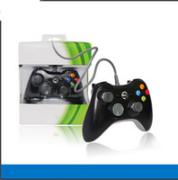 usb game controller - Hot xbox controller USB Wire cable PC game controllers joysticks XBOX360 Gamepad joystick with retail boxes for Laptop computer PC xbox