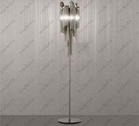 Wholesale Terzani Atlantis Stream Floor Lamp Italy Silver Aluminum Hanging Chain Floor Lamp Modern Living Room Bedroom Light Dia cm H cm