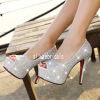 Heels rhinestone shoes - Women s High Heels Rhinestone Wedding Shoes Woman Crystal Banquet Shoes Bridal Shoes Height CM Colors