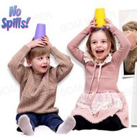 Wholesale In Stock Wow kids Drinking Cup children cup degree uni flow drinking edge spill HHA48