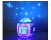Wholesale S00002 Change LED Moon Stars Night Light Magic Starry Projection LED Alarm