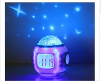 S00002 Changer les étoiles de lune LED Night Light Magic Starry Projection LED Alarm