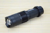 Wholesale 2015 Mini LED Torch W LM CREE T6 LED Flashlight Adjustable Focus Zoom flash Light Lamp