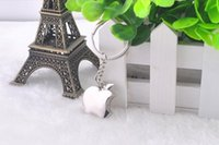 souvenir keychain - New arrival Novelty Souvenir Metal Apple Key Chain Creative Gifts Apple Keychain Key Ring Trinket