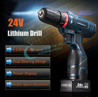 Wholesale Two Speed V Rechargeable Lithium Battery Indicator Waterproof LED Light Electric Drill Hand Drill With Charger