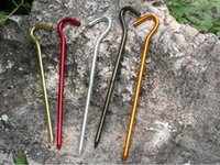 Wholesale cm Outdoor Camping Hiking Aluminum Tent Pegs Stakes Hook Ground