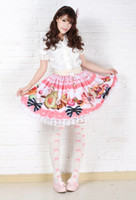 afternoon tea accessories - Best Gift High Quality New Sweet Princess Skirt Pink Cake Afternoon Tea Skirt Pink Lace Polyester Lolita Skirts