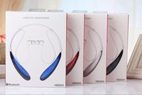 wireless headphones - New arriva HBS Bluetooth Stereo headset Wireless earphone sport headphone Bluetooth Sport Neckband Headsets For LG iPhone Samsung MQ50
