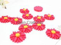 Cheap 120pcs big daisy sun flowers 26mm resin flat back embellishment, hair bow headband supplies, scrapbooking big daisy you