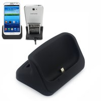Wholesale 3 in USB Data Sync Battery Charger Dock Stand Docking Station micro usb for Samsung Galaxy II N7100 ATA24H Z25