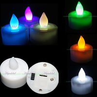 battery wax candle - One Dozen Flameless Candles Flickering LED Tea Light Candles Battery Tealights Any QTY AB New Arrival L023