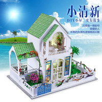 Wholesale Fashion D Puzzle House For Children Handmade DIY Toy Beauty House Play House Dollhouse DIY Toy Top Quality