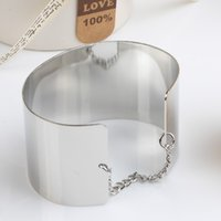beaded chain mirrors - New Women Fashion Jewelry Alloy Metal Mirror Bracelet Connected By A Chain Gold amp Silver Color BL