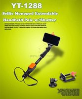Wholesale 1288 Monopod Phone Holder Clip Bluetooth Remote Shutter in Kit For iPhone s s c Plus Phone with Retail Package DHL Free