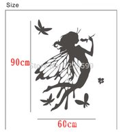 art for girls wall painting - Factory supplyEnglish Series wall stickers stylish backdrop painted wall stickers buterfly girl
