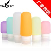 Wholesale 10pcs bagTravel Essentials Kit cosmetic silicone points bottling lotion shower gel shampoo squeeze bottle ml vials