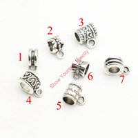 angels bails - 20pcs Tibetan Silver Plated Bail Fit for European Bracelet Pendants for Jewelry Making DIY Handmade Craft styles