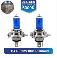 Wholesale XENCN h4 xenon V K Blue Diamond Car Light h4 look for prado almera octavia fiesta lancer Super white car light bulb