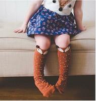baby boy dress socks - 60pairs Animal Princess Baby Boys Girls Socks D Fox Dots Girl Children Clothing Sock Antiskid Kid Dresses Sock Room Socks Y K4232