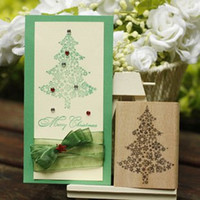 art glass makers - Christmas tree rubber stamp art stamp DIY greeting card stamp maker