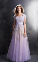 Wholesale Elegant Homecoming Party Dresses Cap Sleeve Sweetheart Ribbon Lace Appliques Tulle Long Prom Gowns New Arrival