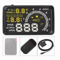 Wholesale Cheapest W02 Multifunctional OBD II Vehicle Car HUD Head Up Display System Indicator Projected Display Security System