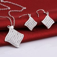 Wholesale Necklace Bangle Earing set Chinese Knot sterling silver s778 Fashion