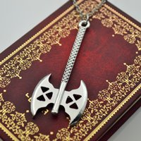 axe weapon - ON SALE Movie jewelry Lord of the Rings axe pendant Necklaces alloy weapon ax hatchet charm necklaces The Hobbit statement jewelry