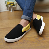 beijing color - 2016 New Foot Lazy Casual Shoes Hit Color Men s Canvas Shoes Men Old Beijing Bazaar Stall For Jogging Long distance