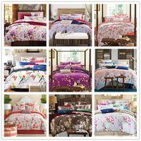 king size bed set - Brussels High Quality Cotton home textile Custom flower Bedding Sets Queen King Size Designers bedclothes set duvet cover cotton set