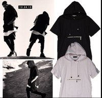 Wholesale hooded short sleeve t shirt men kanye west design t shirt hip hop tee shirts plain big oversized tshirt xl