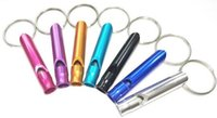 aluminium whistle - Top quality Outdoor Aluminium Survival Emergency Whistle Multicolor Hiking Camping Whistle Key Chain