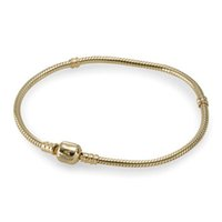 Angel gold pan - Diy Charm Jewelry Gold Strands Beads Bracelet Pan Clasp Fit European Loose beads