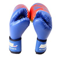 Wholesale New Professional PU Leather MMA Flame Muay Thai Training Punching Sparring Fighting Boxing Gloves g Black Blue Red