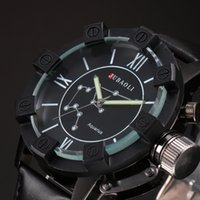 aquarius belt - Jubaoli Male Aquarius Black Shell Analog Quartz Black Leather Band Fashion Business Mens Casual Watch WAA806