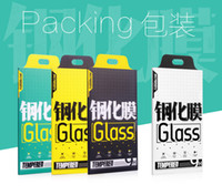 Wholesale Tempered Glass Screen Protector Retail Packaging For iPhone plus New with Hang Hole Kraft Paper Package Book Style Box ONLY SELL PACKAGE