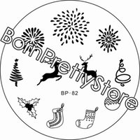 art tree images - New Christmas Stamping Plate BP Xmas Tree Deer Nail Art Stamp Template Fireworks Image Stamp Plate BORN PRETTY BP82