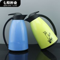 Wholesale Penguins glass liner insulation pot thermos creative home large capacity kettle plastic teapot coffee pot L