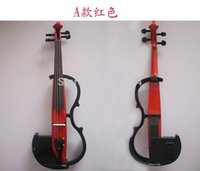 Wholesale Red Beginner Wood Electric Violin Fiddle For Sale Gift Headphone Rosin Case And Cable New