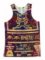 ancient mew - 2015 New Styles Ancient Mew Women Men Vest Unisex Vest Couples Tank Tops Underwear D Print Crop Sleeveless Garment Stretchy V033